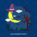 Night Moon Dark Icon