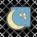 Night Moon Stars Icon