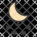 Night Moon Snow Icon