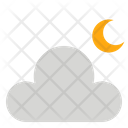 Cloud Moon Weather Icon