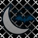 Moon Bat Night Icon