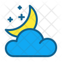 Cloud Night Atmosphere Climate Increasing Clouds Weather Forecast Icon