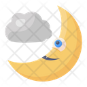 Night Moon Quarter Moon Icon