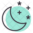 Night Moon Stars Icon