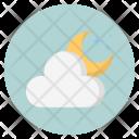 Moon Cloud Forecast Icon
