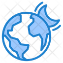 Night Moon Earth Icon