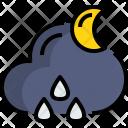 Night Rainy Weather Icon