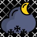 Night Snow Weather Icon
