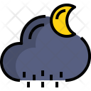 Night Rainy Weather Icon