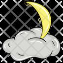 Night Cloud Night View Cloudy Moon Icon