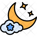 Night Cloud Night Moon Icon