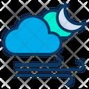 Night Cloud Wind Icon