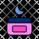 Night Cream Cream Cream Jar Icon
