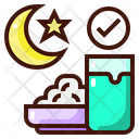 Night Food Break Fasting Pre Dawn Meal Icon
