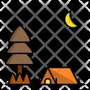 Night Hike Moon Icon