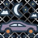 Night Journey Night Driving Overnight Icon