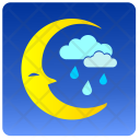 Night Cloud Rain Icon
