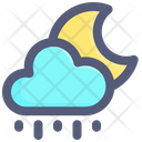 Cloud Moon Rain Icon