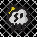Night Moon Storm Icon