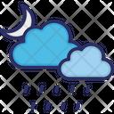 Clouds Raining Moon Icon