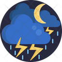 Rain Lightining Thunderstorm Icon