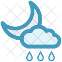 Night Rain Cloud Rain Icon