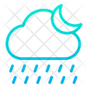 Night Rain Rainy Icon