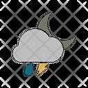 Night Rainy Lightning Icon