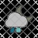 Night Rainy Snowfall Icon
