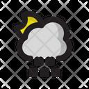Night Moon Cloud Icon