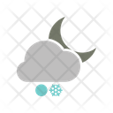 Night Snowball Snowfall Icon