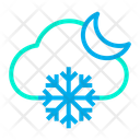 Night Snowfall Snowflake Icon
