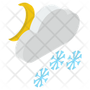 Snowfall Snowstorm Hail Weather Icon