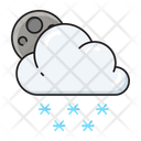 Snowing Cloud Weather Icon