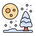 Night Snow Snowing Icon