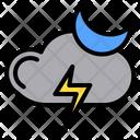 Night Thunder Summer Nature Icon