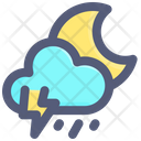 Storm Night Moon Icon