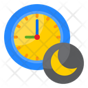 Night Time Time Clock Icon