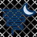 Night Hurricane Storm Icon
