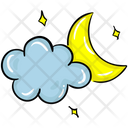 Night Weather Night Time Cloudy Night Icon