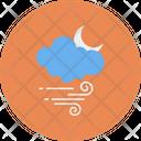 Cloud Moon Wind Icon