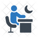 Working Office Night Icon