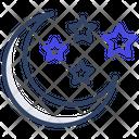 Moon Planetoid Nighttime Icon
