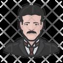 Nikola Tesla Electricity Icon