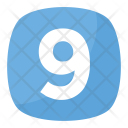 Nine 9 Number Icon