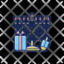 Nine Branched Menorah Icon