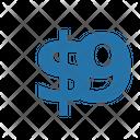 Nine Dollar Numbers Dollar Icon