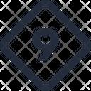 Number Diamond Icon