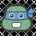 Ninja Turtle Ninja Head Emoticon Icon