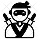 Japanese Assassin Ninja Warrior Shinobi Icon